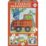 Educa-17144 4 Puzzles - Rescue Patrol