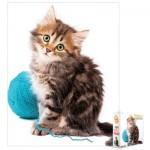 Puzzle  Eurographics-8104-0620 Katze mit einem Wollknäuel