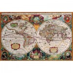 Puzzle  Eurographics-8220-1997 Antique World Map