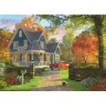 Eurographics-8300-0978 XXL Teile - Familiy Puzzle: Dominic Davison - The Blue Country House