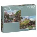 2 Puzzles - Around Britain - Corfe Castle