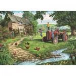 Puzzle   XXL Teile - Steve Crisp - Old Tractor