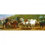 Puzzle  Gold-Puzzle-61130 Der Pferdemarkt