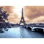 Puzzle  Grafika-Kids-00379 Der Eiffelturm an einem regnerischen Wintertag