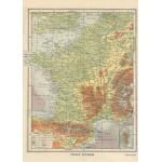 Puzzle  Grafika-Kids-00416 Frankreich physisch - Larousse, 1925