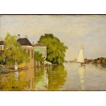 Puzzle  Grafika-Kids-00480 Claude Monet: Houses on the Achterzaan, 1871
