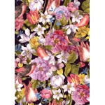 Puzzle  Grafika-Kids-01175 Magnetische Teile - Vintage Flowers and Birds