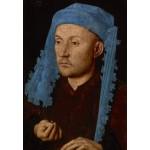 Puzzle  Grafika-Kids-01261 Jan van Eyck - Portrait of a Man with a Blue Chaperon, 1430-33