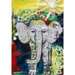 Puzzle  Grafika-Kids-01270 Thailändisches Elefantenbaby