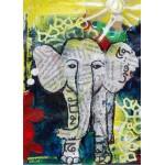 Puzzle  Grafika-Kids-01271 Magnetische Teile - Thailändisches Elefantenbaby