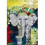 Puzzle  Grafika-Kids-01273 XXL Teile - Thailändisches Elefantenbaby