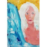 Puzzle  Grafika-Kids-01415 XXL Teile - Mädchen mit weißem Haar