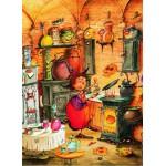 Puzzle  Grafika-Kids-01453 François Ruyer - Die Hexe