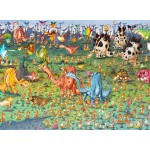 Puzzle  Grafika-Kids-01467 François Ruyer - Dinosaurier