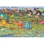 Puzzle  Grafika-Kids-01468 François Ruyer - Dinosaurier