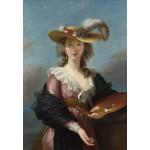 Puzzle  Grafika-Kids-01477 Elisabeth Vigée-Lebrun: Self-portrait in a Straw Hat, 1782