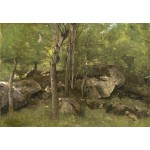 Puzzle   Jean-Baptiste-Camille Corot: Rocks in the Forest of Fontainebleau, 1860-1865