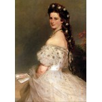 Puzzle  Grafika-00404 Franz Xaver Winterhalter: L'impératrice Elisabeth d'Autriche, 1865