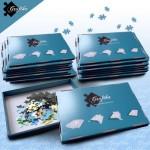 Puzzle  Grafika-00506 Blaue Sortierkästen im 20er-Set