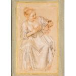 Puzzle  Grafika-00511 Antoine Watteau: Femme Assise, 1716-1717