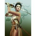 Puzzle  Grafika-00978 Weibliche Samurai