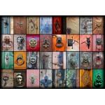 Puzzle  Grafika-01222 Collage - Türen