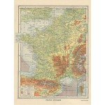 Puzzle  Grafika-01225 Frankreich physisch - Larousse, 1925