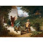 Puzzle  Grafika-01717 Carl Spitzweg - Jugendfreunde, 1855