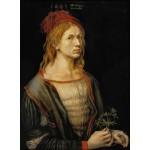 Puzzle  Grafika-01737 Albrecht Dürer - Selbstbildnis mit Eryngium, 1493