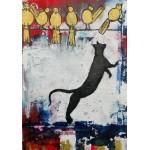 Puzzle  Grafika-02095 Katzenspiele