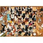 Puzzle  Heye-08793 Degano: Schwarz und Weiß