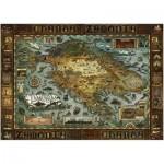 Puzzle  Heye-29622 Walter Moers: Karte von Zamonia