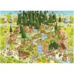 Puzzle  Heye-29638 Marino Degano: Funky Zoo Black Forest Habitat