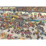 Puzzle  Jumbo-02046 Jan van Haasteren: Motorradrennen