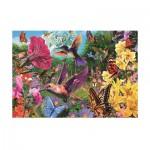Puzzle  Jumbo-18328 Ein Garten voller Kolibris