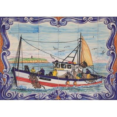 Puzzle Jumbo-18542 Portugiesische Fliesen aus Ferragudo
