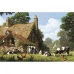Puzzle   Kühe auf einem Bauernhof