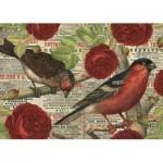 Puzzle   Vögel lieben Blumen