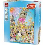 Puzzle  King-Puzzle-05187 Comic Collection - Turm von Pisa