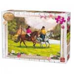 Puzzle  King-Puzzle-05296 Girls & Horses