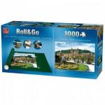 King-Puzzle-05337 Puzzlematte für 1000 Teile + Puzzle San Sebastian, Spanien