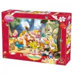 Puzzle  King-Puzzle-K04754-A Schneewittchen und die sieben Zwerge