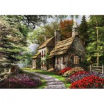 Puzzle  KS-Games-11261 Dominic Davison: Landhaus im Blütenmeer