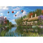Puzzle  KS-Games-11272 Dominic Davison: Das alte Landhaus am Flussufer