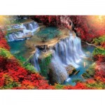 Puzzle  KS-Games-11466 Wasserfall bei Herbstanfang