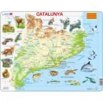 Larsen-A28 Rahmenpuzzle - Katalonien und seine Tiere (auf Katalanisch)