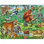 Larsen-FH24 Rahmenpuzzle - Dschungeltiere