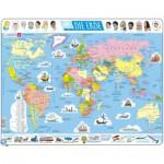 Larsen-K1-DE Rahmenpuzzle - Weltkarte