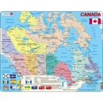 Larsen-K11 Rahmenpuzzle - Kanada (auf Französisch und Englisch)