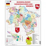 Larsen-K27 Rahmenpuzzle - Bundesland: Bremen and Niedersachen